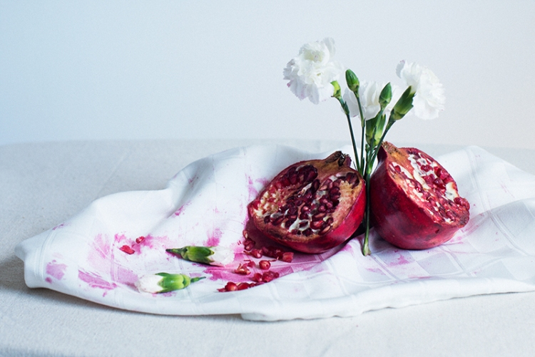 Pomegranate and Carnantions